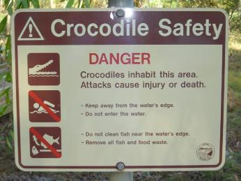 Croc safety sign WA