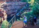 Half way down Fortescue Falls in Dales Gorge