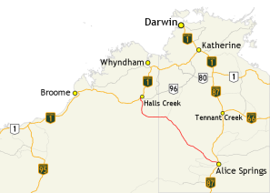 Tanami_Road_route_map