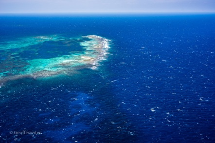 chop and swell over the abrolhos
