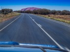 Uluru whilst driving