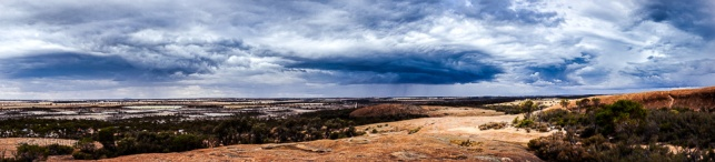 Storms at Wave Rock
