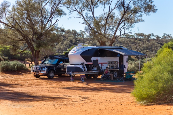 Campsite at lake ballard