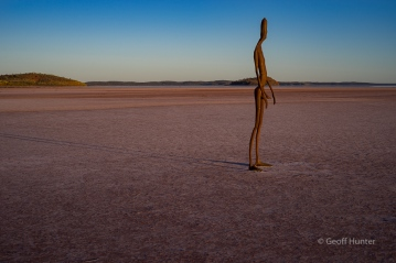 lake Ballard sculture at first light
