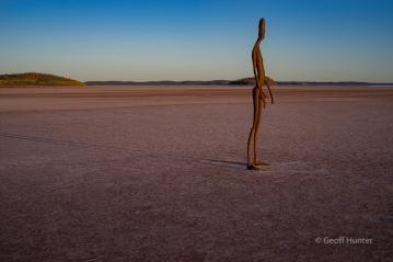 lake Ballard sculture at first light