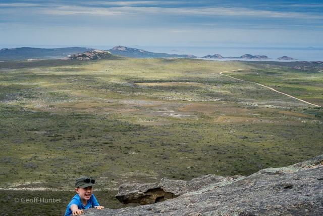 lochie climbing Frenchmans peak