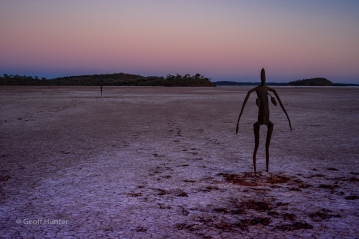 sculture of female at sunset2