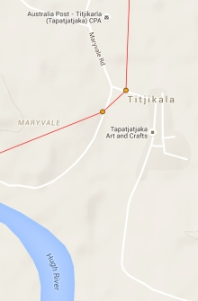 Titjikala Map