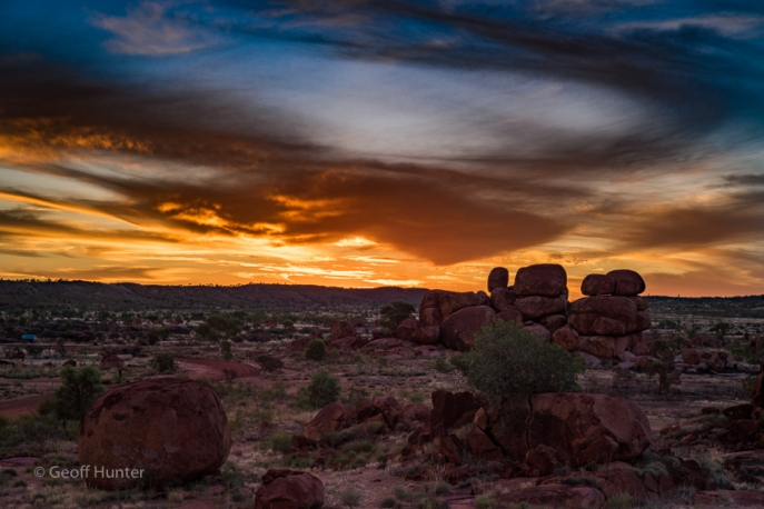Devils Marbles Sunset orange